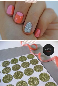 Fun patterned nails