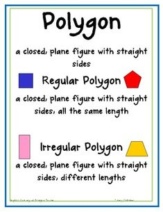 Here's a poster on polygons with an accompanying assessment page.