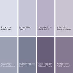 paint colors 2019 Bedroom Paint Color Schemes and Design Ideas Purple Haze, Grey Purple Paint, Grey Paint Colors, Bedroom Paint Colors, Interior Paint Colors, Paint Colors For Home, House Colors, Interior Painting, Gray Paint