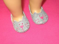 American Girl Doll Kitty Cat Slippers