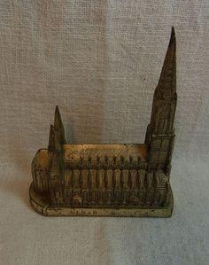Vintage German Souvenir Building Ulm Muenster #BG