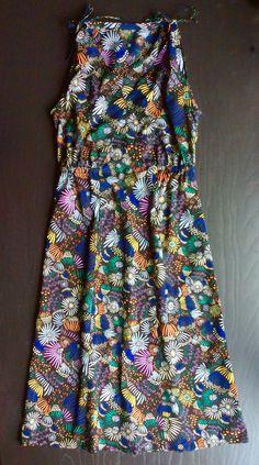 Sew House Seven Mississippi Avenue dress. Cloud 9 Leah Duncan Floret cotton batiste.