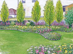 Sichtschutz für einen kurzen, breiten Garten - Mein schöner Garten