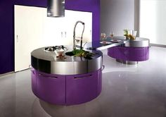 trendy rounded kitchen