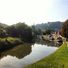 """""""tow path"""" by TravelPod blogger daily4 from the entry """"Yay, a bike!"""" on Wednesday, September 24, 2014 in Bath, United Kingdom"""