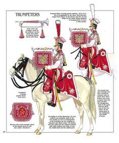 Trombe dei lancieri polacchi del 1 rgt. cavalleggeri della guardia imperiale, 1804-1815