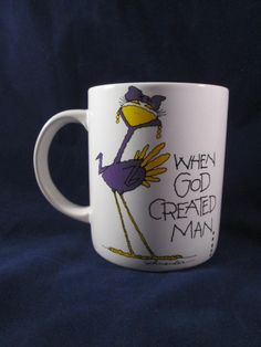 Understatements When God Created Man ... She Was Only Kidding Coffee Mug NEW