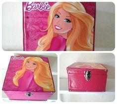 caixa organizadora barbie