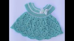 Vestido niña a crochet muy fácil y rápido