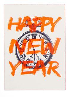 KERSTKAART HAPPY NEW YEAR ZEEFDRUK KERSTKAART HAPPY NEW YEAR ZEEFDRUK is geschiktvooriedereen die van speciale kerstkaarten houdt.Ze zijn gezeefdrukt op dik karton..