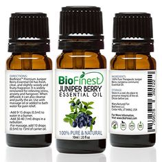 Biofinest 100% Pure Juniper Berry Oil - Experience The Therapeutic Aroma of Juniper Berry Oil Today!  -Sweet and woodsy smell. -Powerful detoxifier and immune system booster. -Natural remedies for sor...