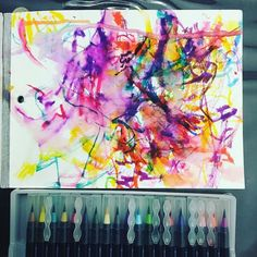 The final masterpiece! #tinyartist #toddlerlife #watercolorbrushes
