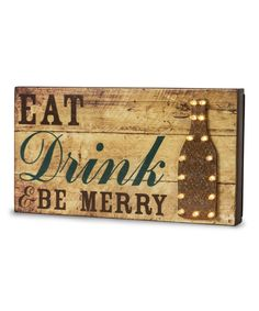 'Eat Drink & Be Merry' Light-Up Marquee Sign