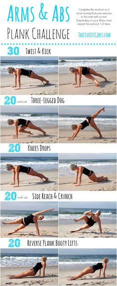 Arms and Abs Plank Workout - no equipment needed! #fitness