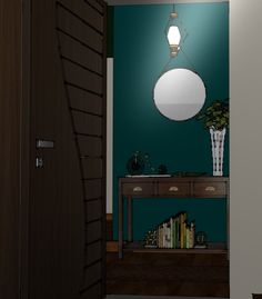Beau Green by Benjamin Moore, Goes perfectly for small space as an entrance foyer Entrance Foyer, Boynton Beach, 3d Visualization, Plan Design, Design Consultant, Color Of The Year, Benjamin Moore, Creative Design, Design Projects