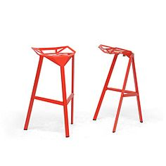 @Overstock - Entertain with ease indoors or outdoors with these modern aluminum bar stools by Kaysa. These backless barstools have an industrial design and can be used at home or in a shop. With non-marking feet, these stackable stools come in a set of two.http://www.overstock.com/Home-Garden/Kaysa-Red-Aluminum-Modern-Bar-Stools-Set-of-2/6444232/product.html?CID=214117 $226.99