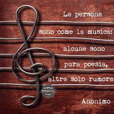 Le persone sono come la musica: alcune