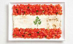 Libano  Food Festival Internazionale di Sydney, per celebrare la cucina internazionale, le bandiere nazionali dei paesi partecipanti, sono state ricreate usando cibi popolari locali di ogni nazione.