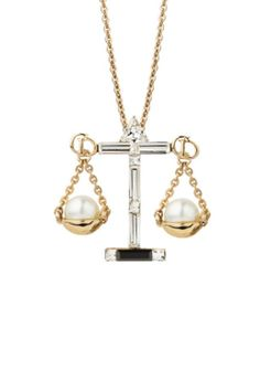 Dior scales of justice fine jewelry necklace. Love this since I'm a Paralegal now :)