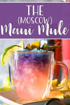The Maui Mule puts a tropical twist on the classic cocktail! Trade out your typical vodka for something a little more pink, and your drink will be as gorgeous as a Hawaiian sunset! Cocktails The Maui Moscow Mule Drinks Tumblr, Lillet Berry, Winter Drink, Beach Cocktails, Refreshing Cocktails, Pink Cocktails, Peach Vodka Drinks, Raspberry Vodka Drinks, Vodka Mixed Drinks
