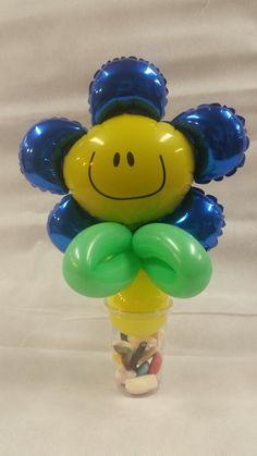 traktatiebeker met blauwe bloem