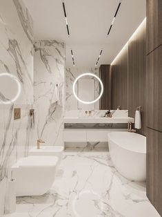 ▷ Baños de mármol, última tendencia en revestimientos 2020 Washroom Design, Toilet Design, Bathroom Design Luxury, Modern Bathroom Design, Modern Luxury Bathroom, Bathroom Design Inspiration, Bad Inspiration, Home Room Design, Home Interior Design