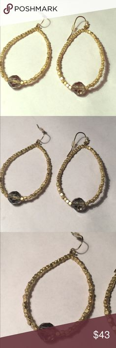 NEW Boho Beaded Earrings Brand new Bohemian style, handmade, beaded hoop earrings from chic online boutique that recently closed out by the name of Kitsy Lane. Fish hook style back for pierced ears. Will come with dust bag and free gift! KitsyLane Jewelry Earrings