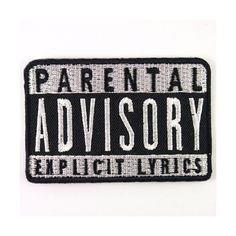 PARENTAL ADVISORY EXPLICIT LYRICS ROCK MUSIC Embroidered Iron On... (83.045 IDR) ❤ liked on Polyvore