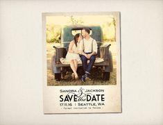 """Save The Date Magnet, Modern Vintage Magnet, Wedding Save The Date, Rustic Save The Date Magnet, 4.25"""" x 5.5"""" Photo Magnets (STDM1)"""