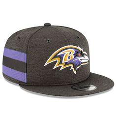 premium selection d8334 3e41c Youth New Era Black Baltimore Ravens 2018 NFL Sideline Home 9FIFTY Snapback  Adjustable Hat