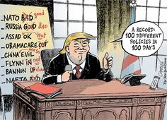 On Donald Trump's First 100 Days - The New York Times   #Trumpocalypse #notmypresident