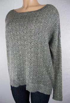 THEORY Sweater Size M Gray Fleck Asymmetrical Baby Alpaca Silk Wool #Theory #Tunic