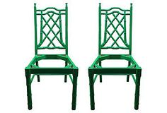 One Kings Lane - Faux-Bamboo  Chair Frames, Pair