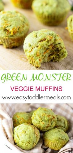 A healthy muffin with vegetables and no oil or butter! Make these guilt free muffins in less than 30 minutes. You'll get your vegetable servings in pretty easily with these healthy bites - they're protein-rich and packed with veggies Baby Muffins, Toddler Muffins, Breakfast Muffins, Breakfast Healthy, Eat Breakfast, Breakfast Ideas, Vegetable Snacks, Healthy Vegetables, Veggies