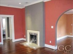 great colors and fireplace tile