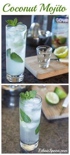 Coconut mojito drink recipe