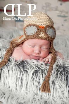 Avaitor crochet hat, boys avaitor hat prop, boys crochet avaitor photo prop hat,newborn avaitor hat on Etsy, $21.00