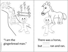 """This is a simple Gingerbread Man printable book for Kindergarten. It provides practice reading and writing the word """"he"""". You can read the full story first by downloading it from Madebyteachers.com as a free printable. The Kindergarten version here is simplified for beginning readers."""