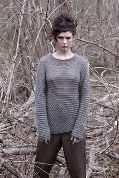 Free knitting pattern for pullover sweater Bidirectional with slip stitch stripes. This and more pullover knitting patterns at http://intheloopknitting.com/long-sleeve-pullover-sweater-knitting-patterns/