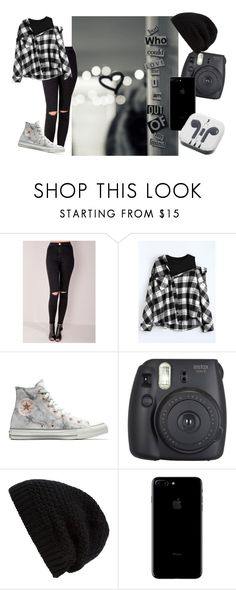 """""""But who can love me I am out of my mind///P!ATD"""" by lyonserenity ❤ liked on Polyvore featuring Converse, Fujifilm, Rick Owens and PhunkeeTree"""