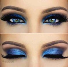 Stunning blue eye makeup