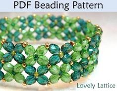 bead design - make it as a bracelet or try making a smaller version for a barrette
