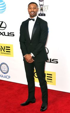 Michael B. Jordan from NAACP Image Awards 2016: Red Carpet Arrivals  The Creed star is a nominee for Outstanding Actor in a Motion Picture and Entertainer of the Year.