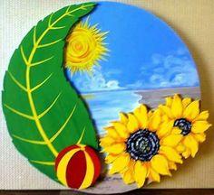 İlkbahar Autumn Crafts, Summer Crafts, Diy And Crafts, Crafts For Kids, Arts And Crafts, Preschool Classroom Decor, Kindergarten Activities, Preschool Activities, Paper Plate Art