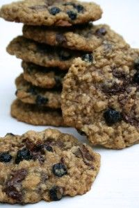 Blueberry Chocolate Chip Oatmeal Cookies