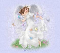 Angel And Butterflies - Angels Fan Art - Fanpop Whispering Angel, Types Of Angels, Penny Parker, Angel Images, I Believe In Angels, Angels In Heaven, Heavenly Angels, Angels Among Us, Angelic Pretty
