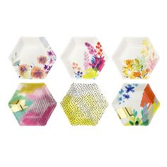 Fluoescent Floral Paper Plates - Talking Tables | Talking Tables