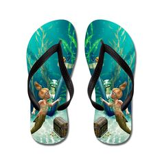 Zhiqing Summer Stylish Cute Mermaid Unisex Rubber Flip Flops Adults M Pink -- Check out the image by visiting the link.