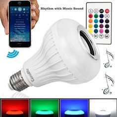 Bluetooth Control Smart Music Wireless Speaker LED RGB Bulb Color Change  #Genolite