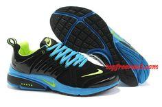 wholesale dealer 66b15 6555d Mens Nike Air Presto Black Blue Green Shoes f